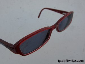 My red frames with the transition tint on them.