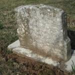 The headstone had no name.
