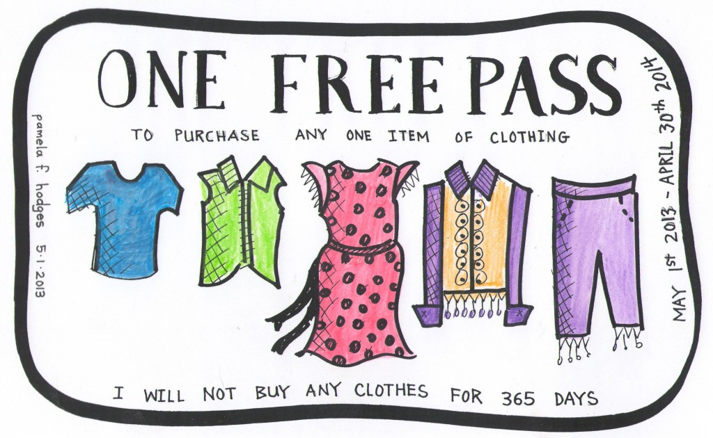 Free Pass Coupon for 365 Day do not buy any clothes challenge