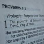 Reading the book of Proverbs to learn wisdom