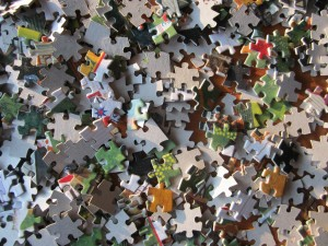 Your dream is like a dumped box of puzzle pieces.