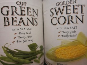 Deciding between green beans and corn