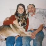 Pamela Hodges, William Fernuik and his dog