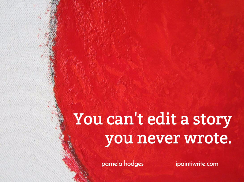 You can't edit a story you never wrote.