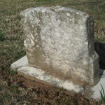 The headstone had no name.