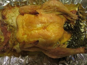 How to bake a chicken and never scrub the roasting pan