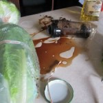 Finding beauty in a bottle of spilled salad dressing