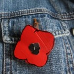 Remembering and red poppies