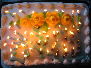 What does sixty candles look like?