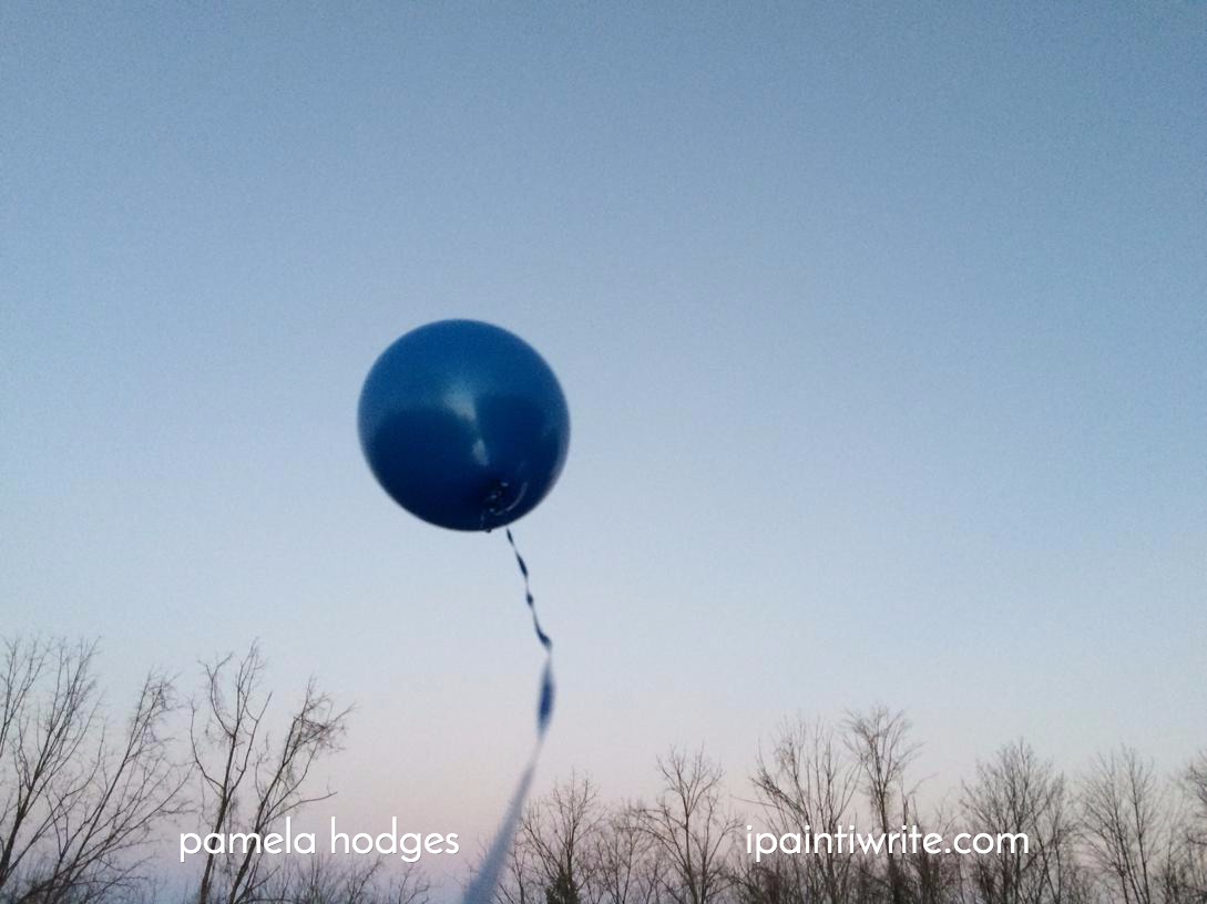 a balloon for my dad in heaven