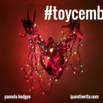 The toys came alive and strung up lights on the deerhead! December 1st, 2015