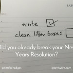 Did you already break your New Years Resolution?
