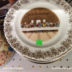 Where did The Last Supper plate at the thrift store come from?